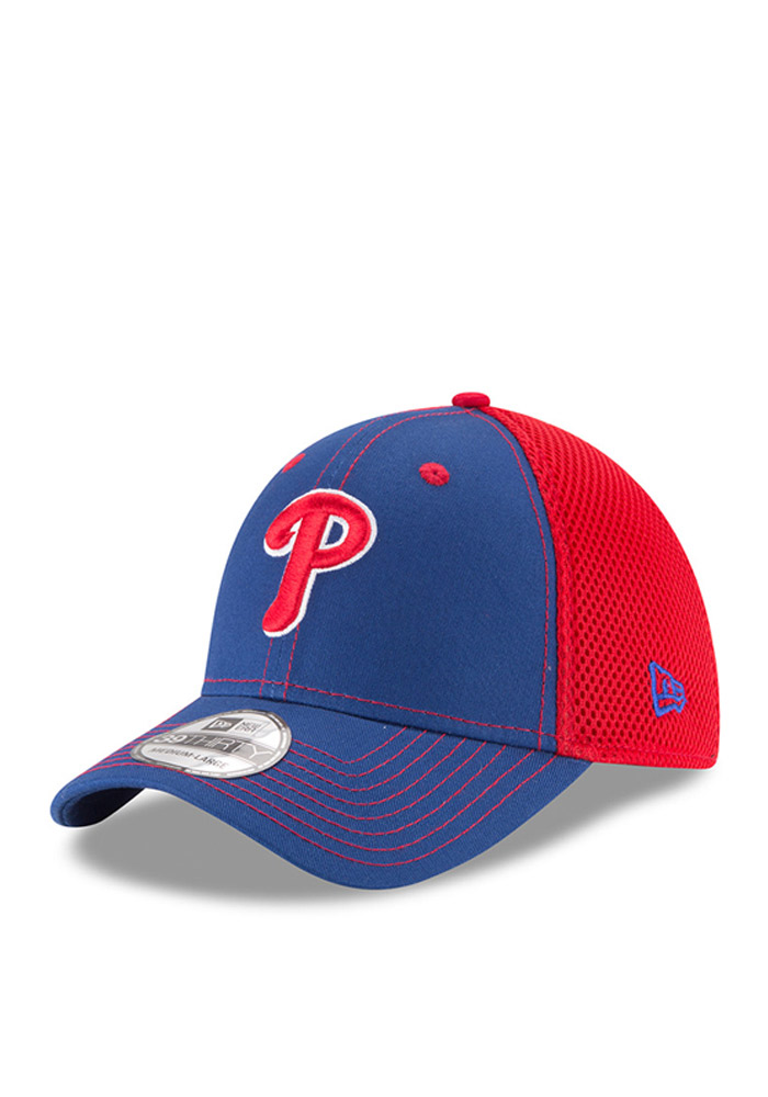 f070aa108c6 New Era Philadelphia Phillies Blue Team Fronted Neo 39THIRTY Flex Hat