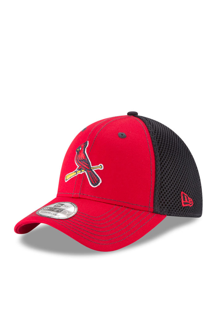 New Era St Louis Cardinals Mens Red Team Fronted Neo 39THIRTY Flex Hat - Image 1
