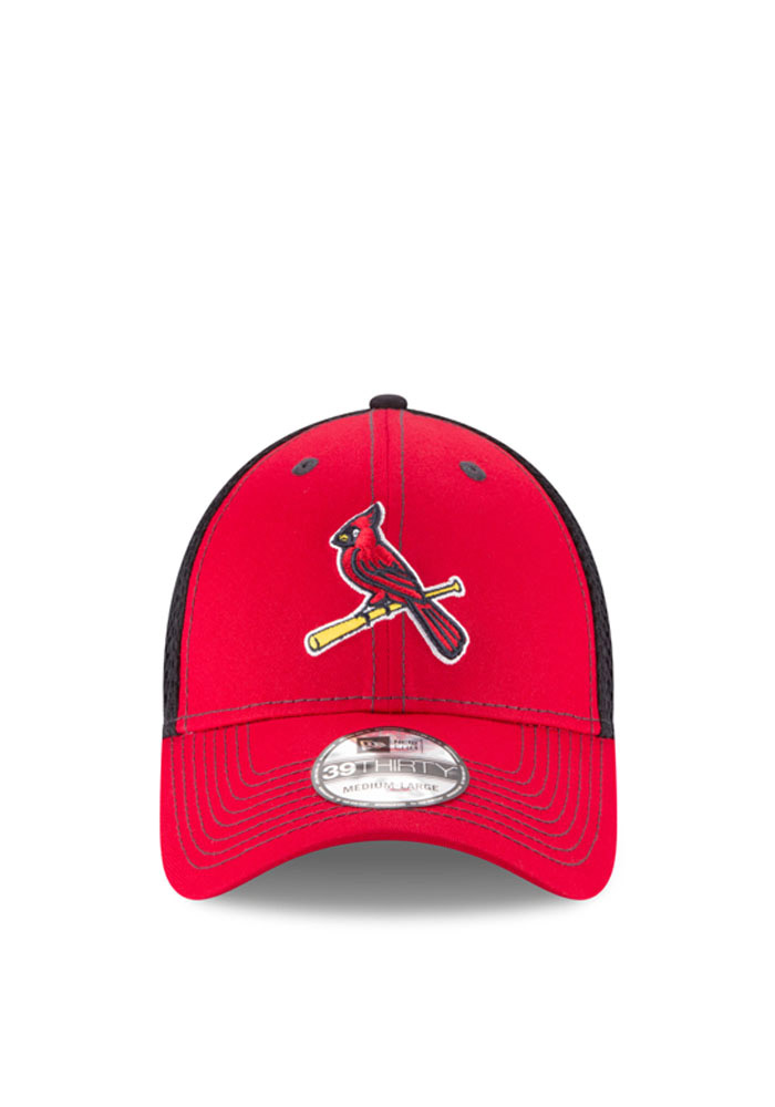 New Era St Louis Cardinals Mens Red Team Fronted Neo 39THIRTY Flex Hat - Image 2