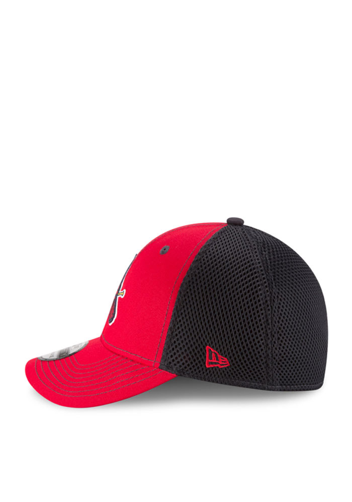 New Era St Louis Cardinals Mens Red Team Fronted Neo 39THIRTY Flex Hat - Image 3