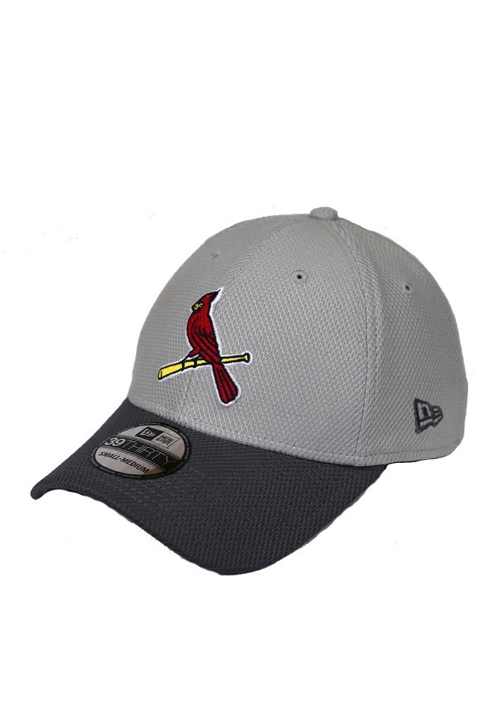 New Era St Louis Cardinals Mens Grey Team Grayed 39THIRTY Flex Hat - Image 1