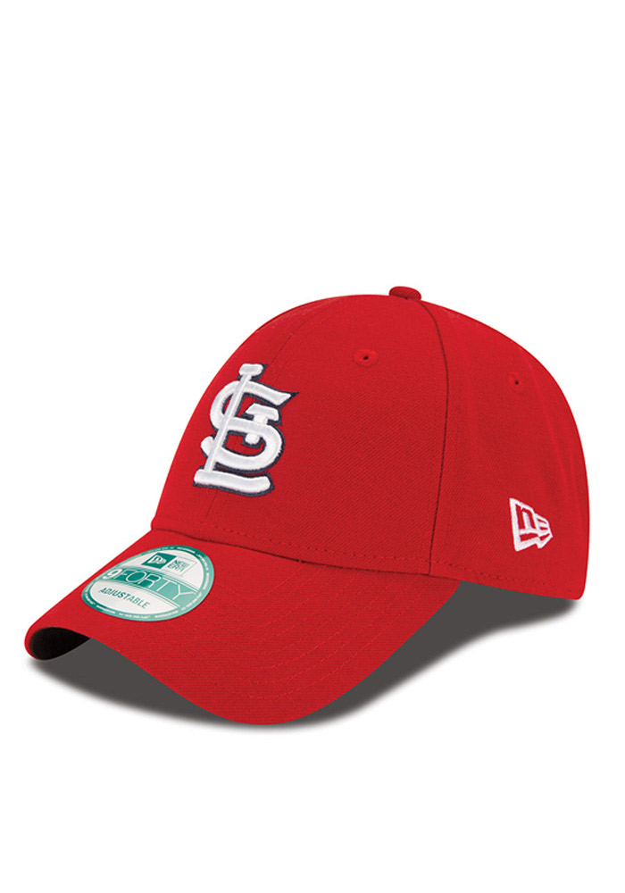 New Era St Louis Cardinals Mens Red The League 9FORTY Adjustable Hat - Image 1