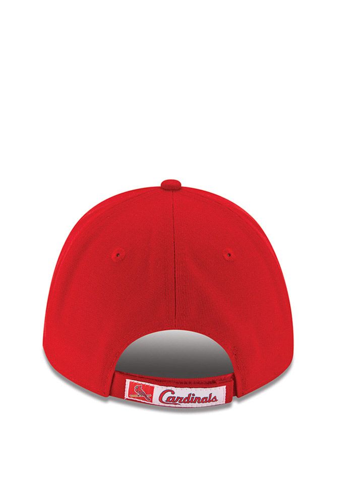 New Era St Louis Cardinals Mens Red The League 9FORTY Adjustable Hat - Image 4