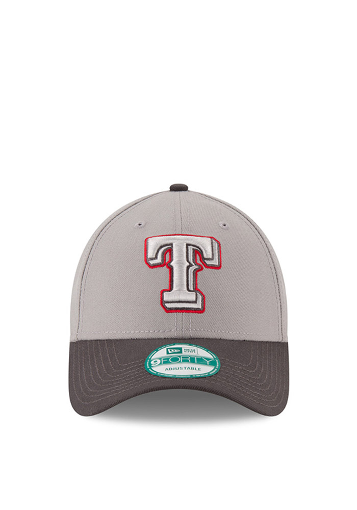 New Era Texas Rangers Mens Grey The League 9FORTY Adjustable Hat - Image 2
