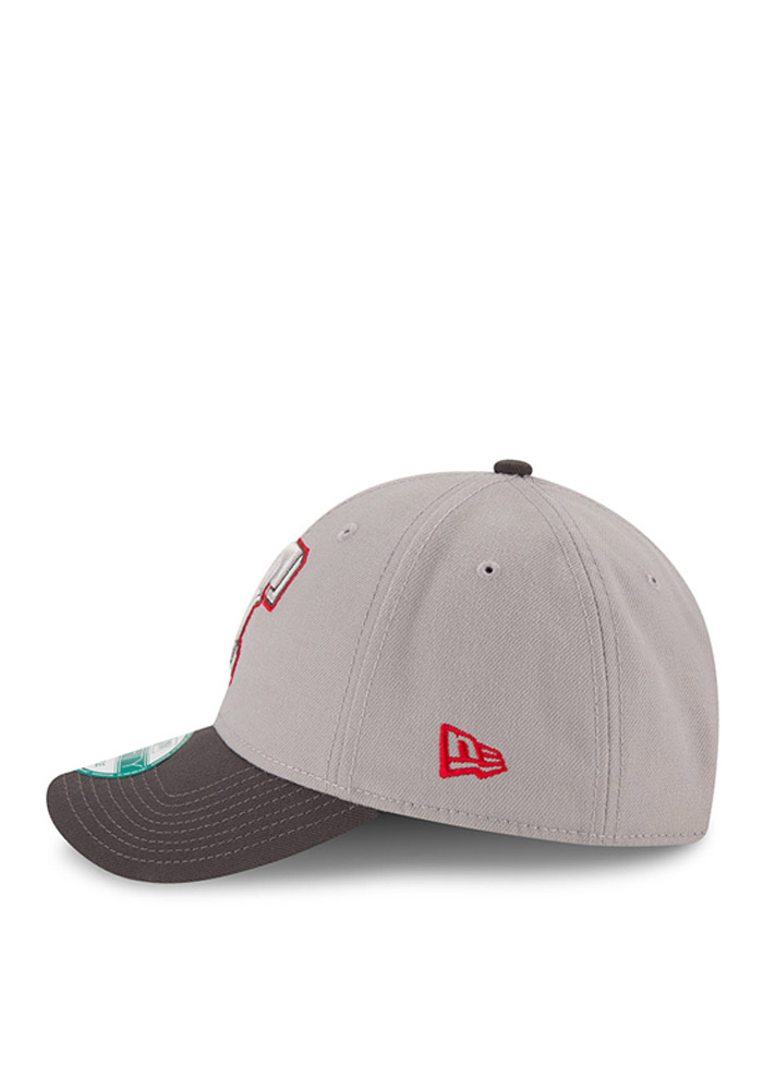 New Era Texas Rangers Mens Grey The League 9FORTY Adjustable Hat - Image 3