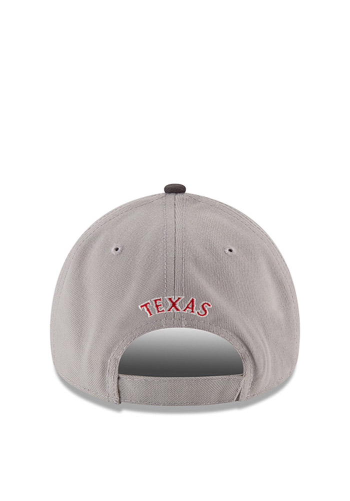New Era Texas Rangers Mens Grey The League 9FORTY Adjustable Hat - Image 4