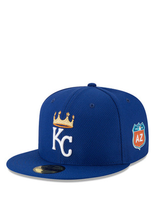 New Era Kansas City Royals Blue 2016 MLB Spring Training 59FIFTY Kids Fitted Hat
