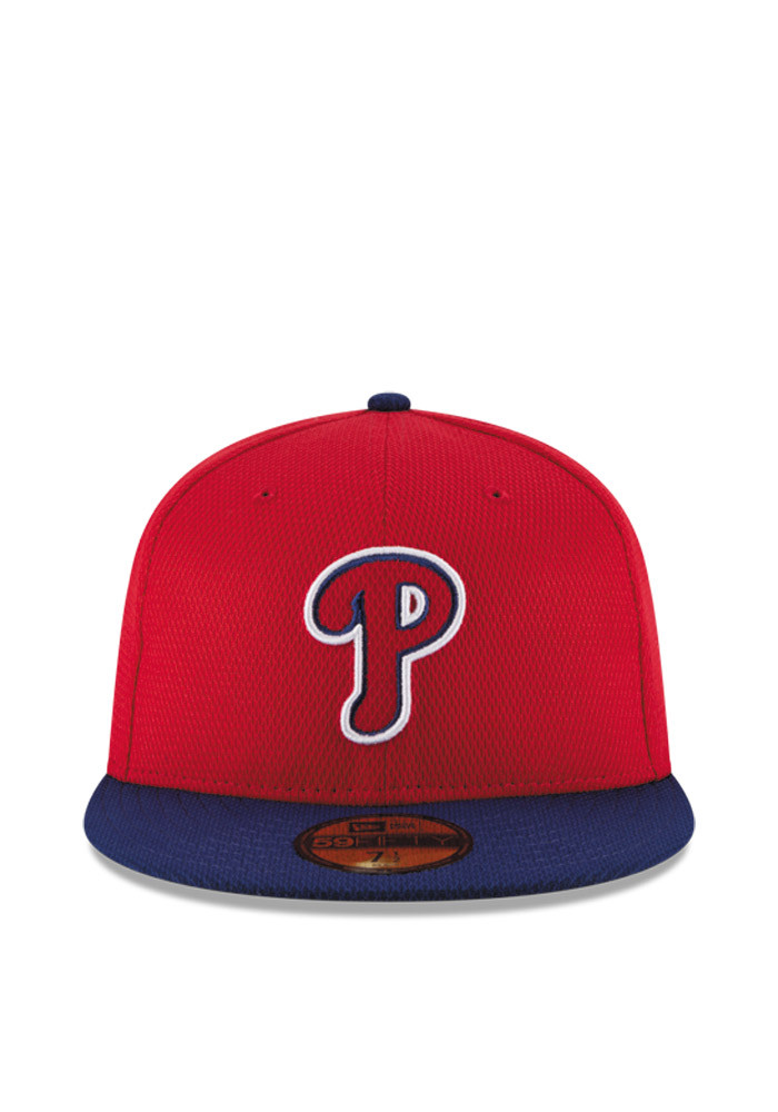 New Era Philadelphia Phillies Mens Red 2016 MLB Diamond Era 5950 Fitted Hat - Image 3