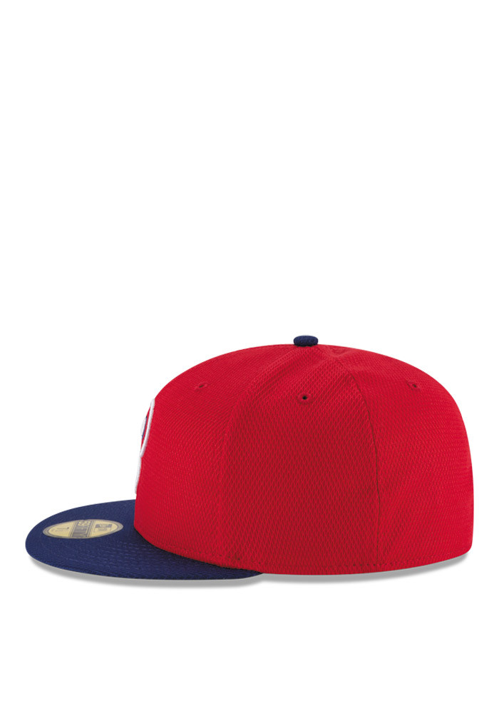 New Era Philadelphia Phillies Mens Red 2016 MLB Diamond Era 5950 Fitted Hat - Image 4