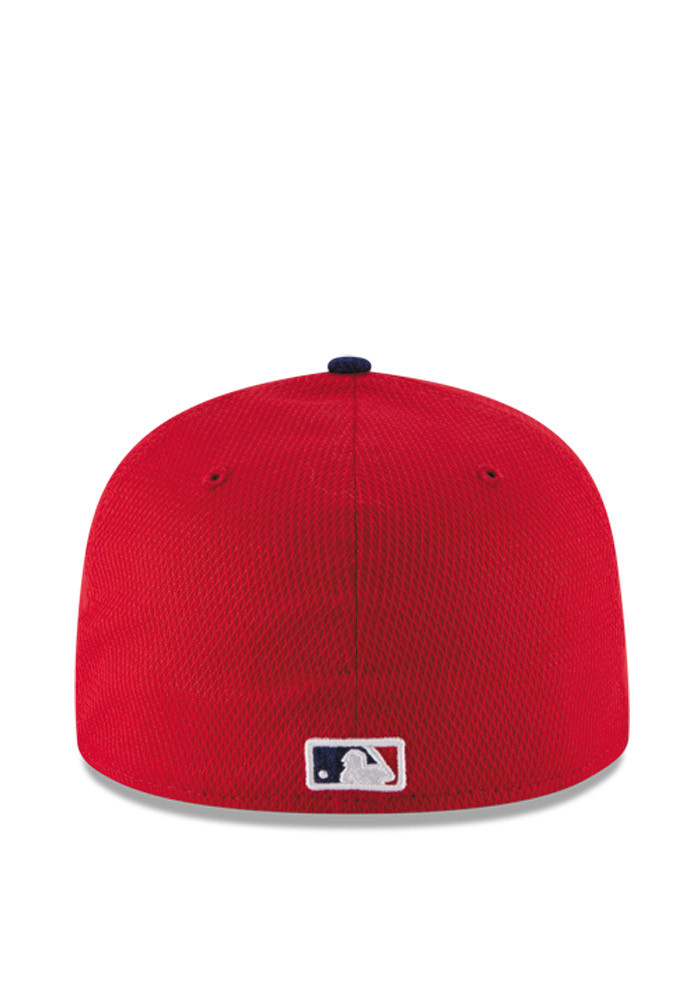 New Era Philadelphia Phillies Mens Red 2016 MLB Diamond Era 5950 Fitted Hat - Image 5