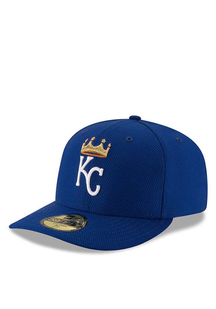 New Era Kansas City Royals Mens Blue 2016 MLB Diamond Era LC 5950 Fitted Hat - Image 1