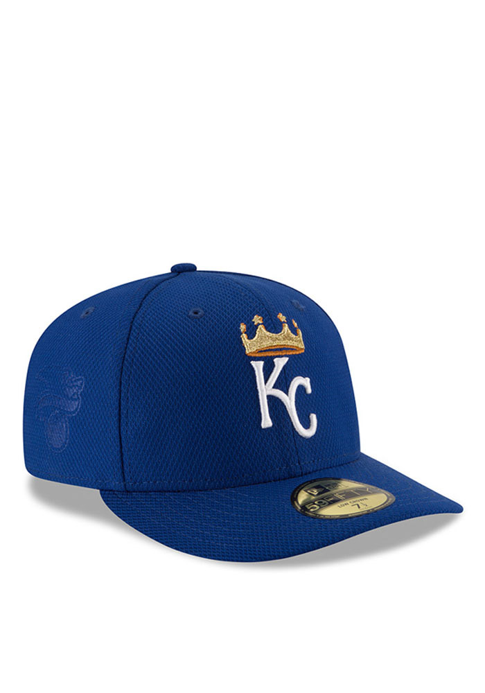 New Era Kansas City Royals Mens Blue 2016 MLB Diamond Era LC 5950 Fitted Hat - Image 2