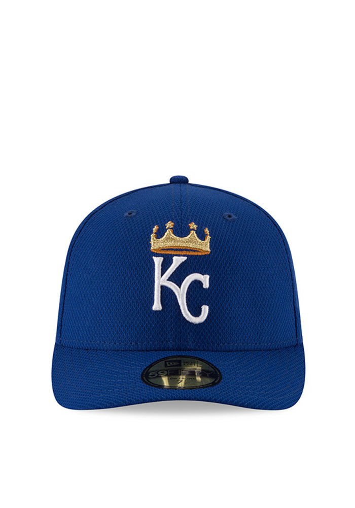 New Era Kansas City Royals Mens Blue 2016 MLB Diamond Era LC 5950 Fitted Hat - Image 3