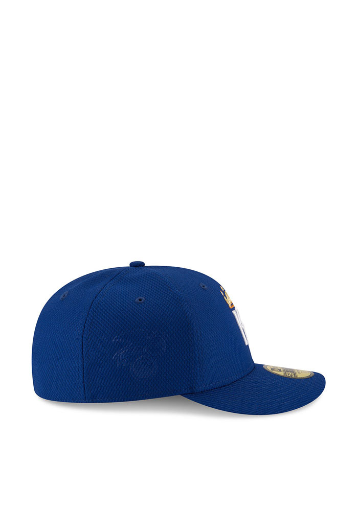 New Era Kansas City Royals Mens Blue 2016 MLB Diamond Era LC 5950 Fitted Hat - Image 6