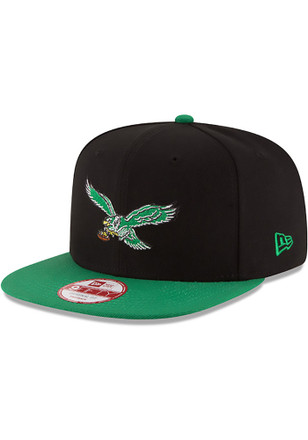 New Era Philadelphia Eagles Mens Black Baycik 9FIFTY Snapback Hat