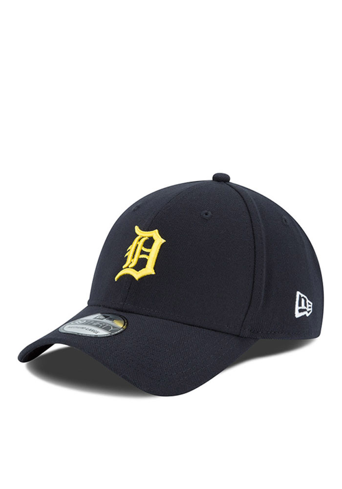 new products c16c4 1ad05 ... cap adjustable velcro twill e8cc4 2bf37  top quality new era detroit  tigers mens navy blue co branded flex hat 5a053 ac045