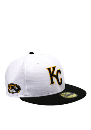 Kansas City Royals New Era Mens White Co Branded 59FIFTY Fitted Hat