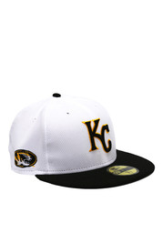 KC Royals New Era Mens White Co Branded 59FIFTY Fitted Hat