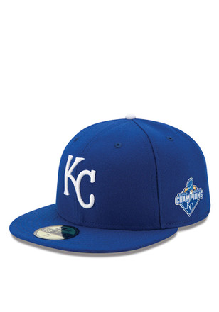 KC Royals New Era Mens Blue 2015 World Series Champ 59FIFTY Fitted Hat