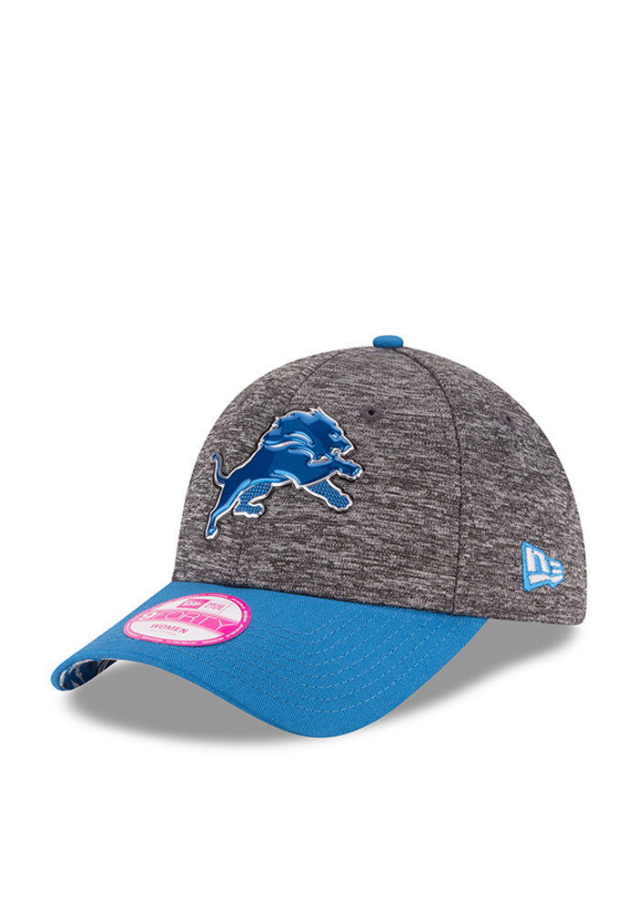 New Era Detroit Lions Blue 2016 Draft W 9FORTY Womens Adjustable Hat - Image 1