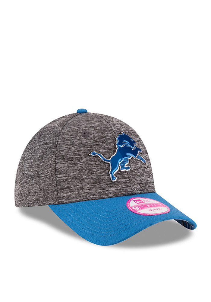 New Era Detroit Lions Blue 2016 Draft W 9FORTY Womens Adjustable Hat - Image 2