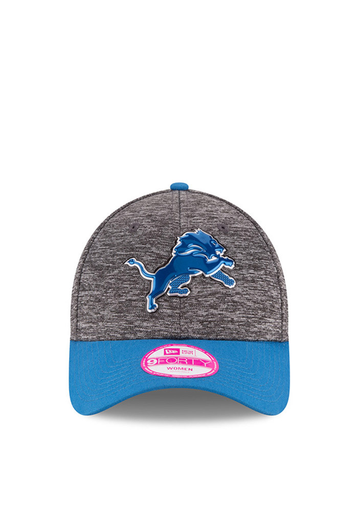New Era Detroit Lions Blue 2016 Draft W 9FORTY Womens Adjustable Hat - Image 3