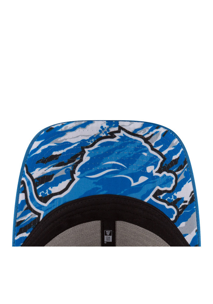 New Era Detroit Lions Blue 2016 Draft W 9FORTY Womens Adjustable Hat - Image 7