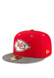 KC Chiefs New Era Mens Red 2016 On Stage Draft 59FIFTY Fitted Hat