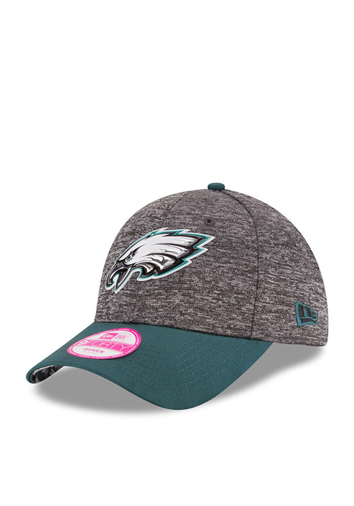 New Era Philadelphia Eagles Midnight Green 2016 Draft W 9FORTY Womens Adjustable Hat - Image 1