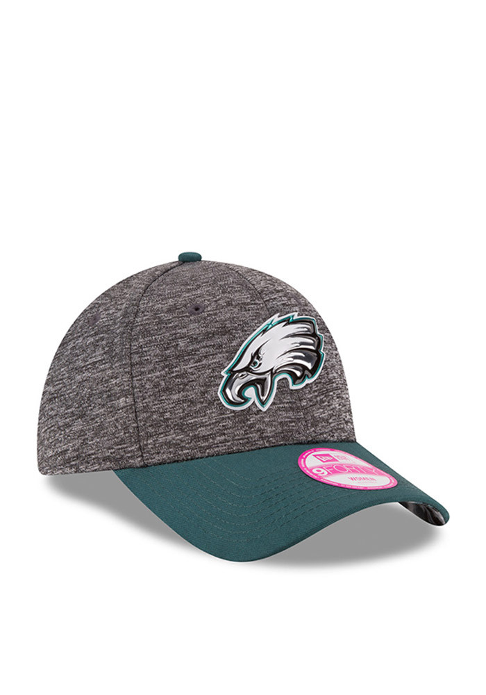 New Era Philadelphia Eagles Midnight Green 2016 Draft W 9FORTY Womens Adjustable Hat - Image 2