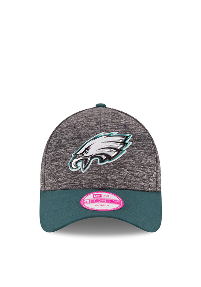 New Era Philadelphia Eagles Midnight Green 2016 Draft W 9FORTY Womens Adjustable Hat - Image 3