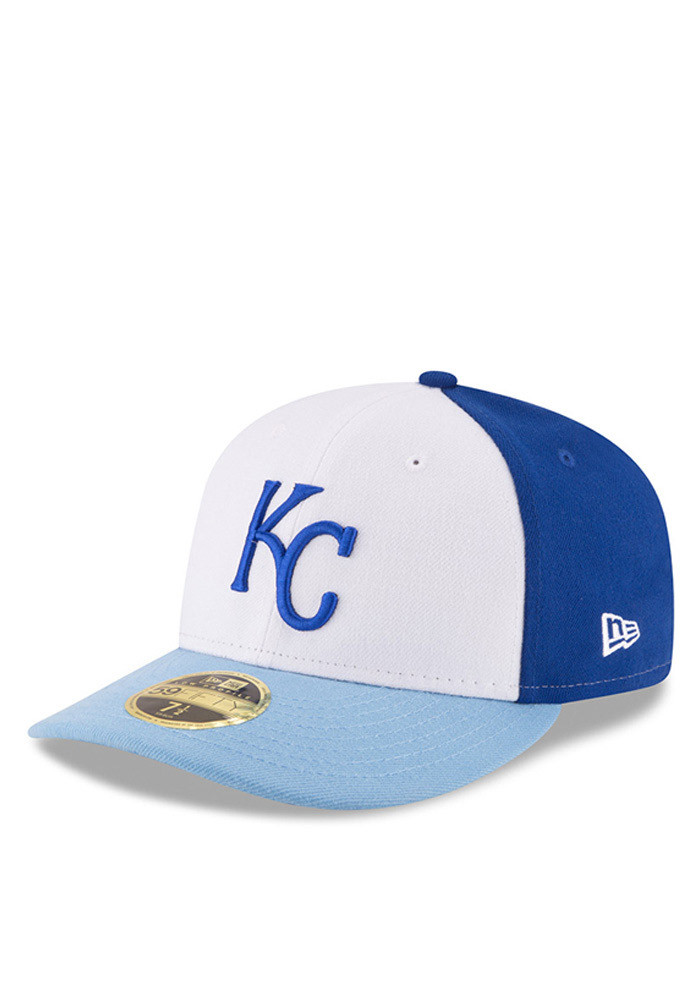 New Era Kansas City Royals Mens Blue Front N Center Low Crown 59FIFTY Fitted Hat - Image 1