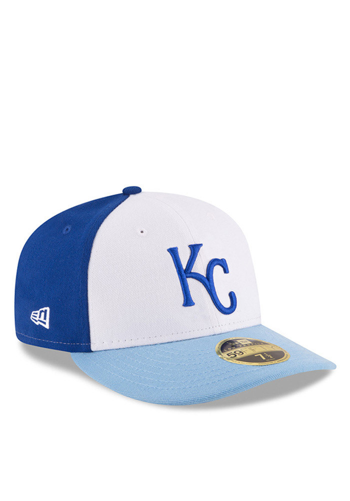 New Era Kansas City Royals Mens Blue Front N Center Low Crown 59FIFTY Fitted Hat - Image 2