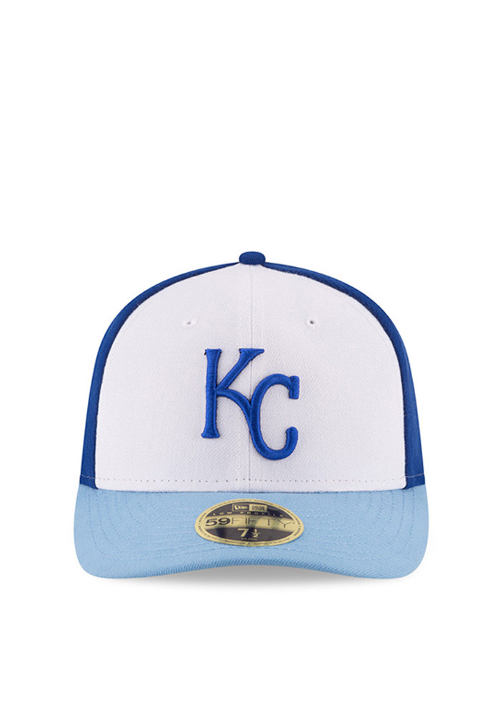 New Era Kansas City Royals Mens Blue Front N Center Low Crown 59FIFTY Fitted Hat - Image 3