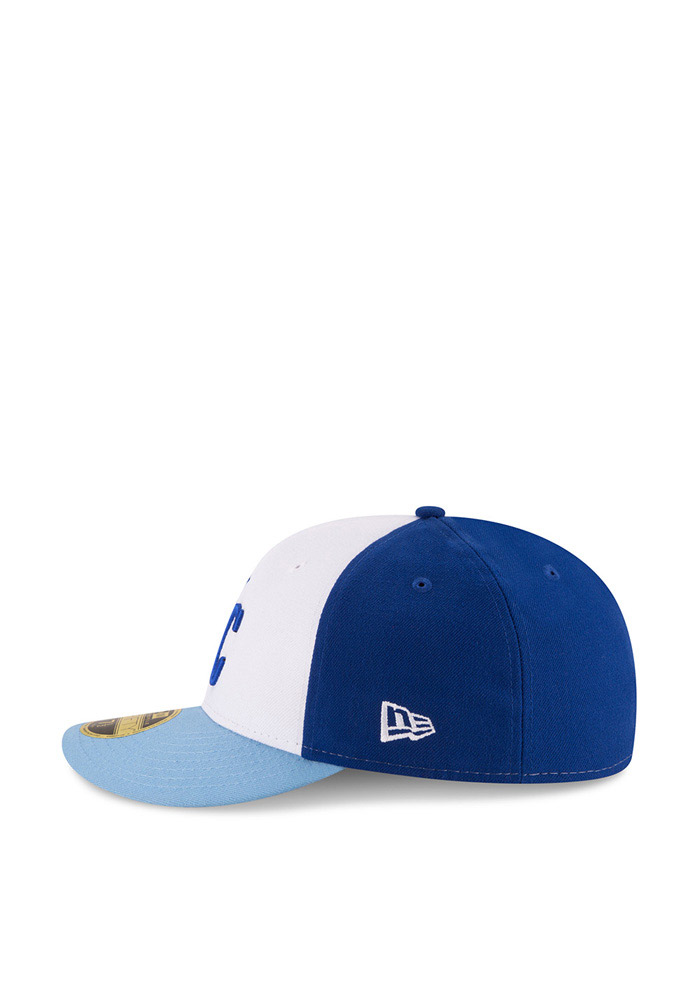 New Era Kansas City Royals Mens Blue Front N Center Low Crown 59FIFTY Fitted Hat - Image 4