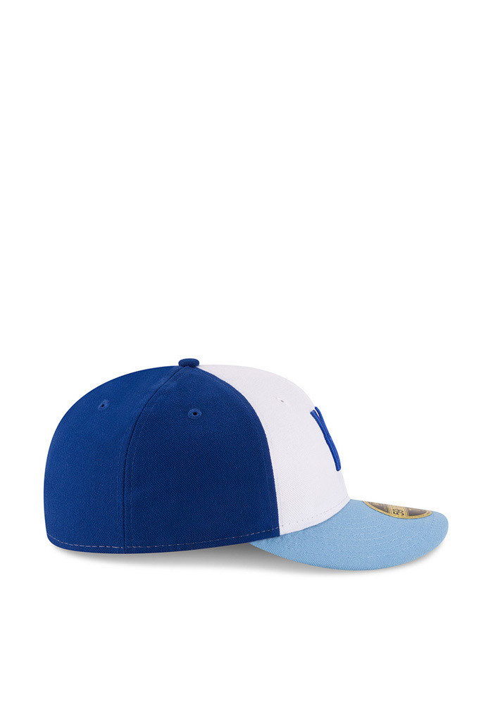 New Era Kansas City Royals Mens Blue Front N Center Low Crown 59FIFTY Fitted Hat - Image 6