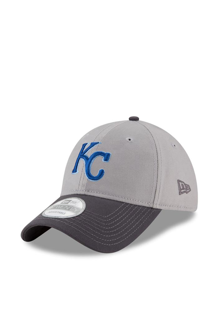 New Era Kansas City Royals Mens Grey Core Shore 9TWENTY Adjustable Hat - Image 1
