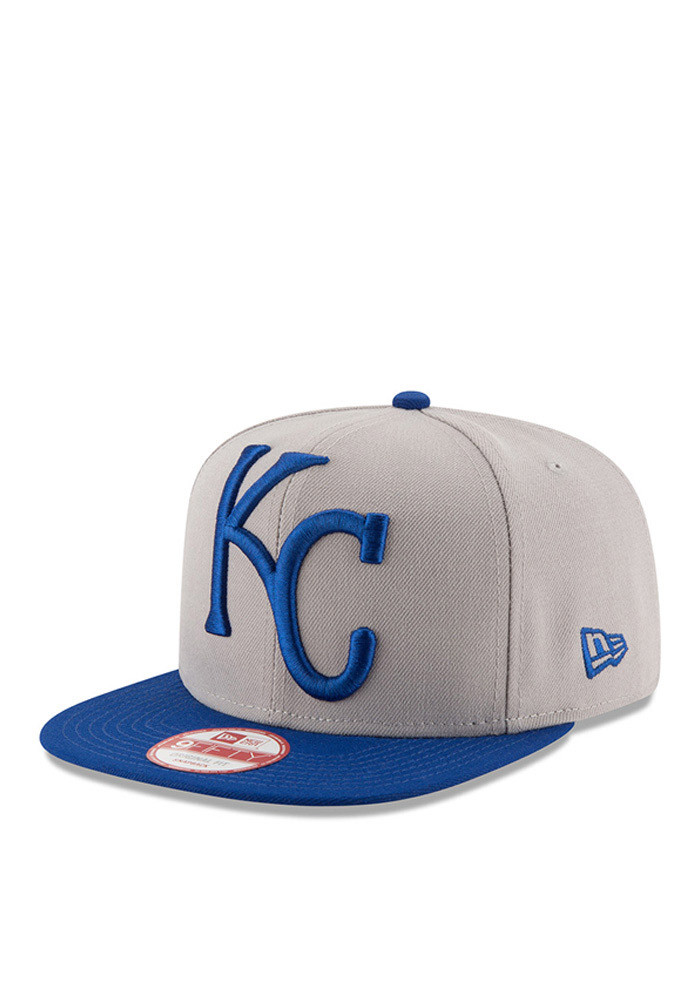 New Era Kansas City Royals Grey Logo Grand Redux 9FIFTY Mens Snapback Hat - Image 1