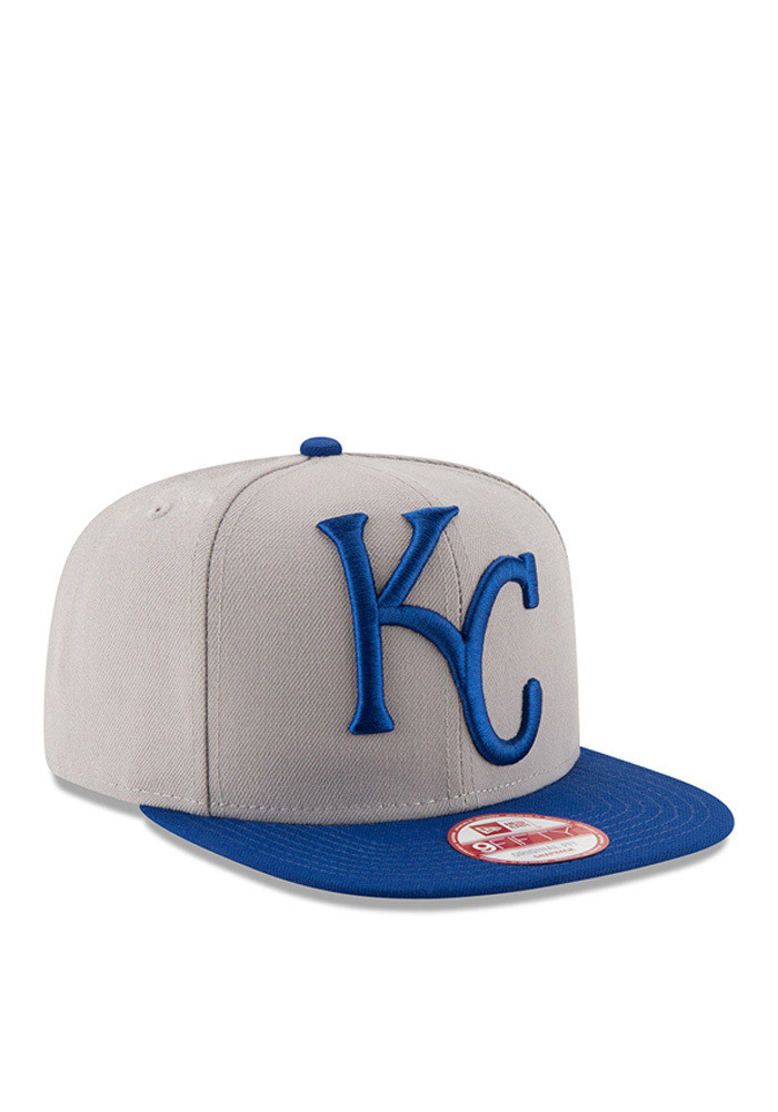 New Era Kansas City Royals Grey Logo Grand Redux 9FIFTY Mens Snapback Hat - Image 2