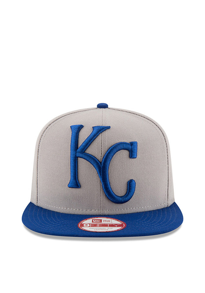 New Era Kansas City Royals Grey Logo Grand Redux 9FIFTY Mens Snapback Hat - Image 3