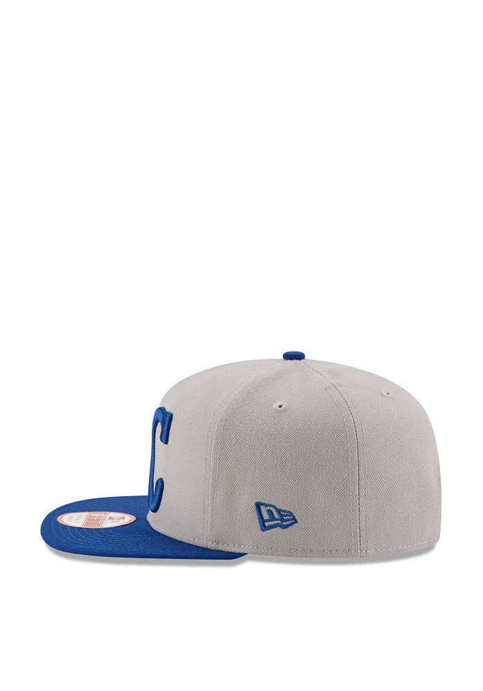 New Era Kansas City Royals Grey Logo Grand Redux 9FIFTY Mens Snapback Hat - Image 4