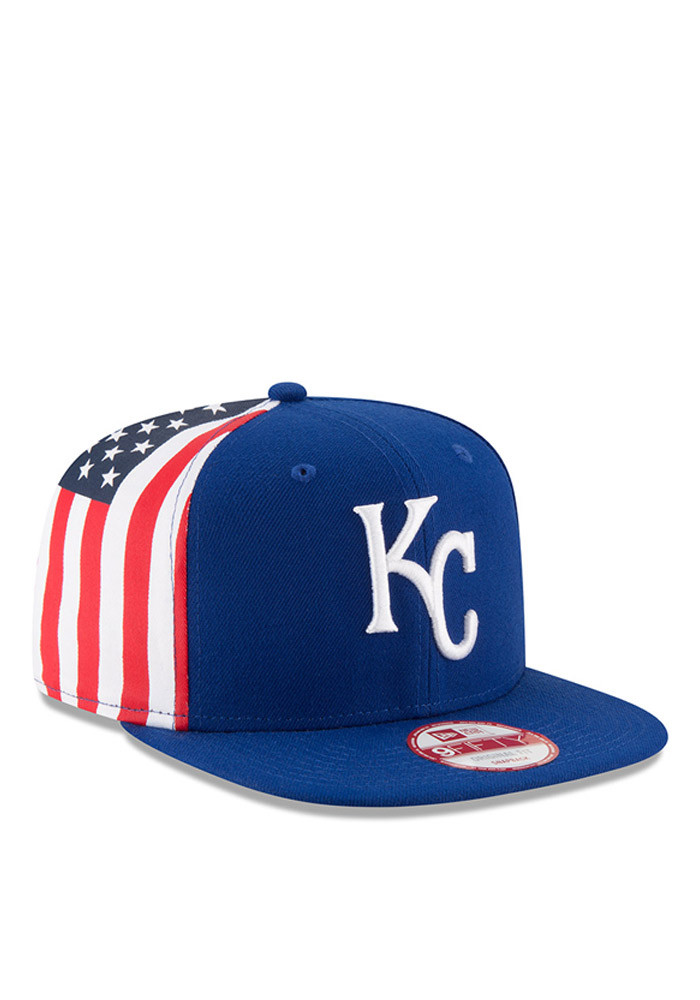 New Era Kansas City Royals Blue Flag Side 95FIFTY Mens Snapback Hat - Image 1