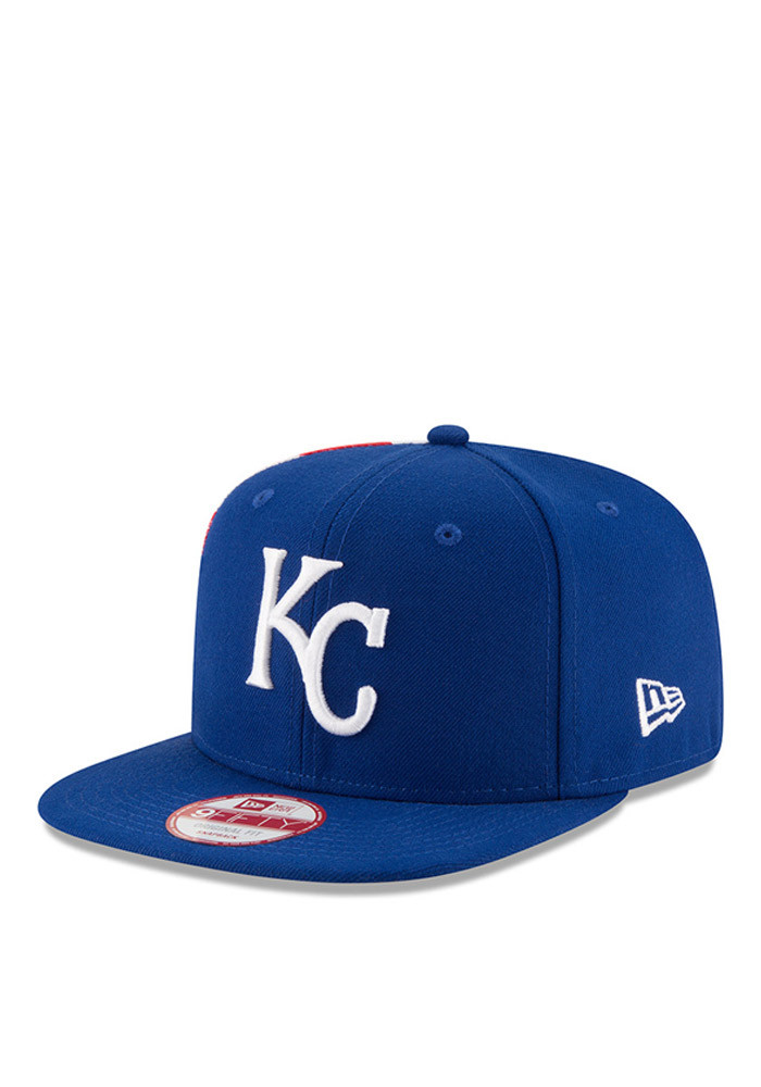 New Era Kansas City Royals Blue Flag Side 95FIFTY Mens Snapback Hat - Image 2