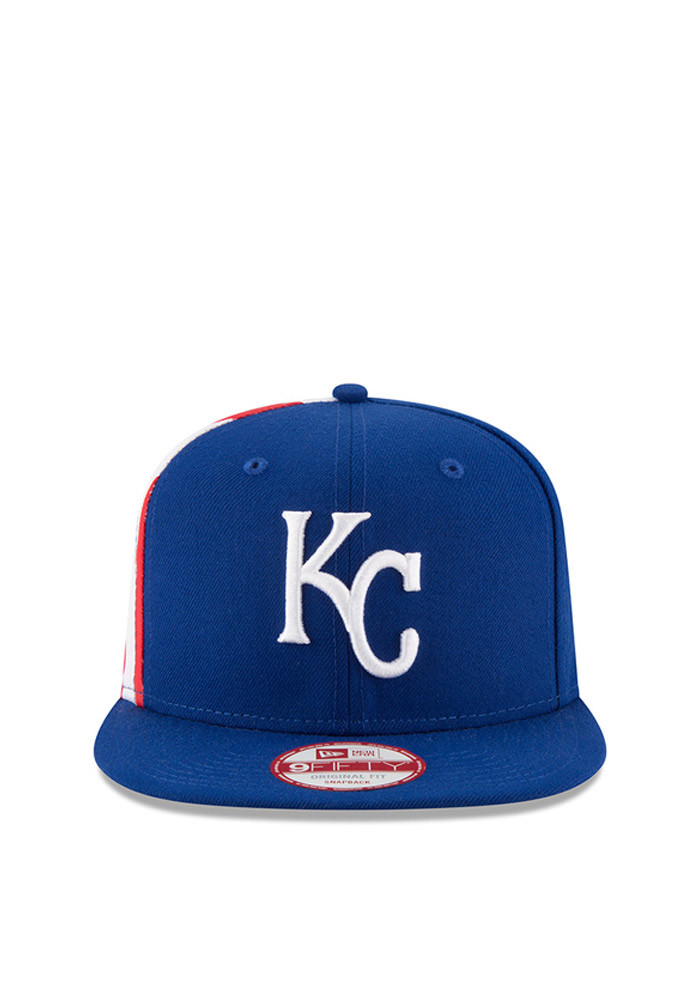 New Era Kansas City Royals Blue Flag Side 95FIFTY Mens Snapback Hat - Image 3