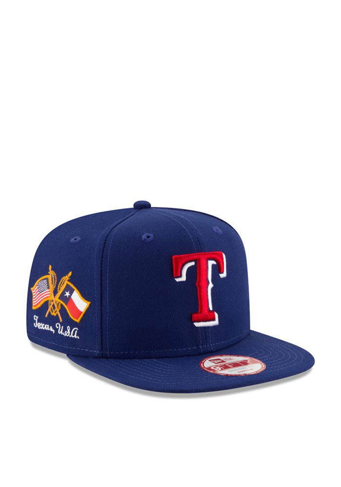New Era Texas Rangers Blue Hometown Class 9FIFTY Mens Snapback Hat - Image 1