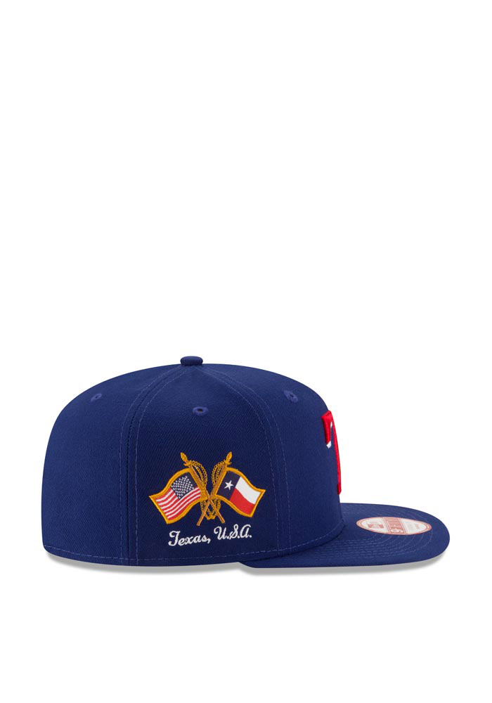 New Era Texas Rangers Blue Hometown Class 9FIFTY Mens Snapback Hat - Image 4