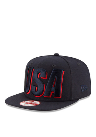 New Era Team USA Mens Navy Blue Country Cheer 9FIFTY Snapback Hat