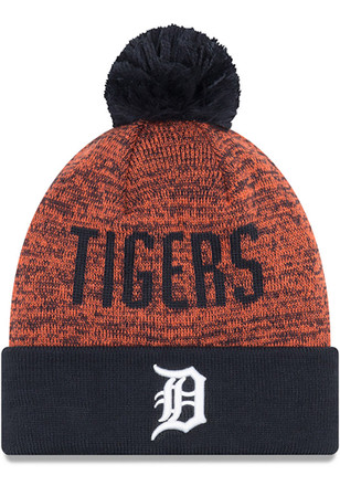 New Era Detroit Tigers Navy Blue Team Blizzard Knit Hat