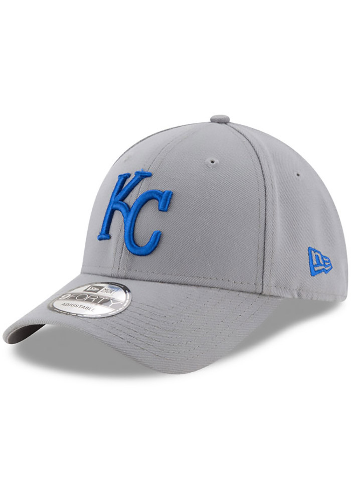 Kansas City Royals Grey Jr League Storm 9FORTY Youth Adjustable Hat - Image 1