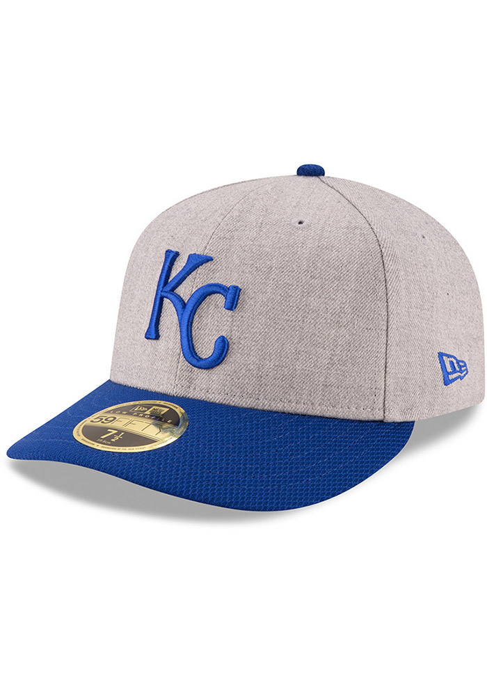 New Era Kansas City Royals Mens Grey Change Up Redux 59FIFTY Fitted Hat - Image 1